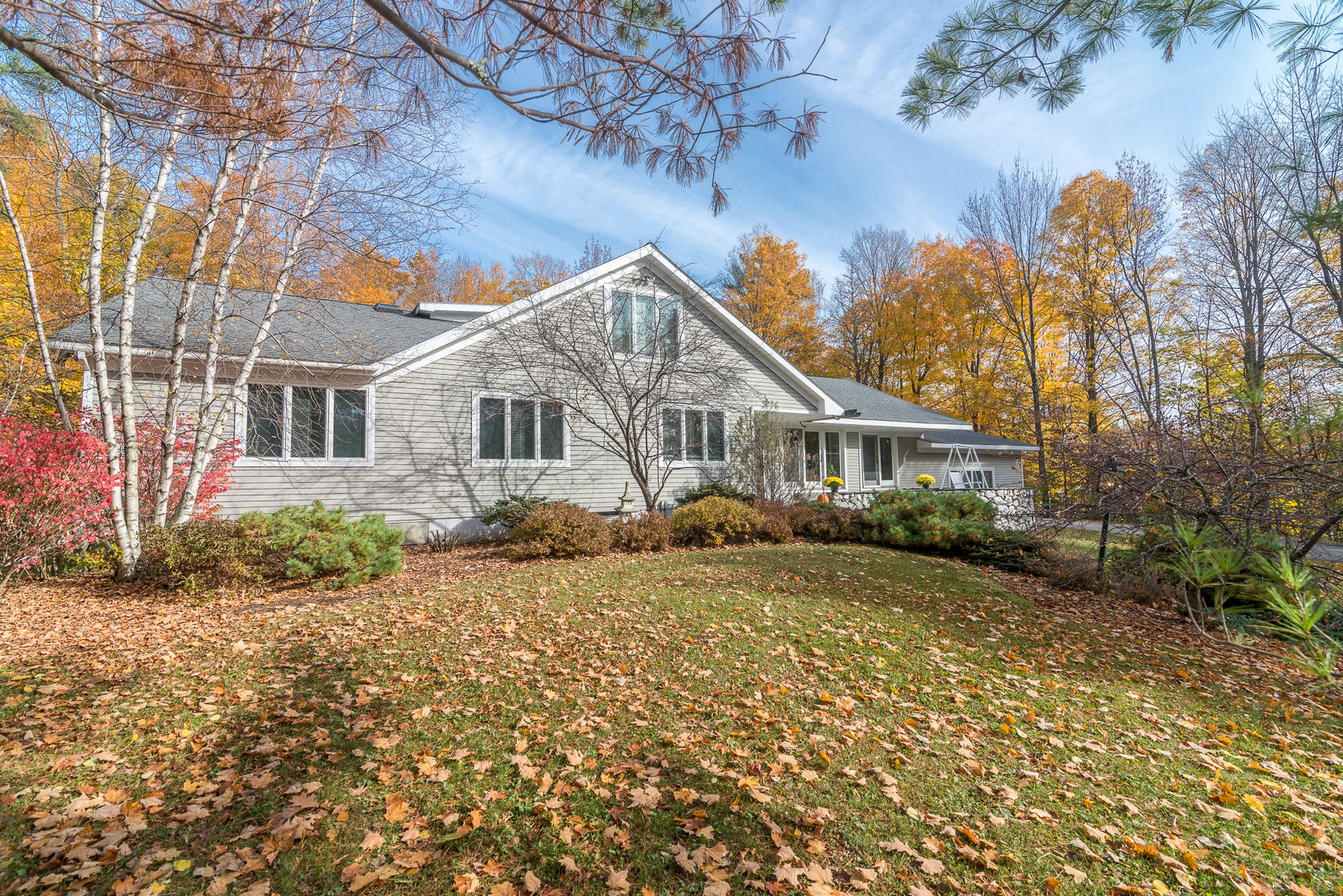 Single Family Home for Sale at Bright Contemporary with Heated Indoor Pool 262 Powderhorn Rd Manchester, Vermont, 05255 United States