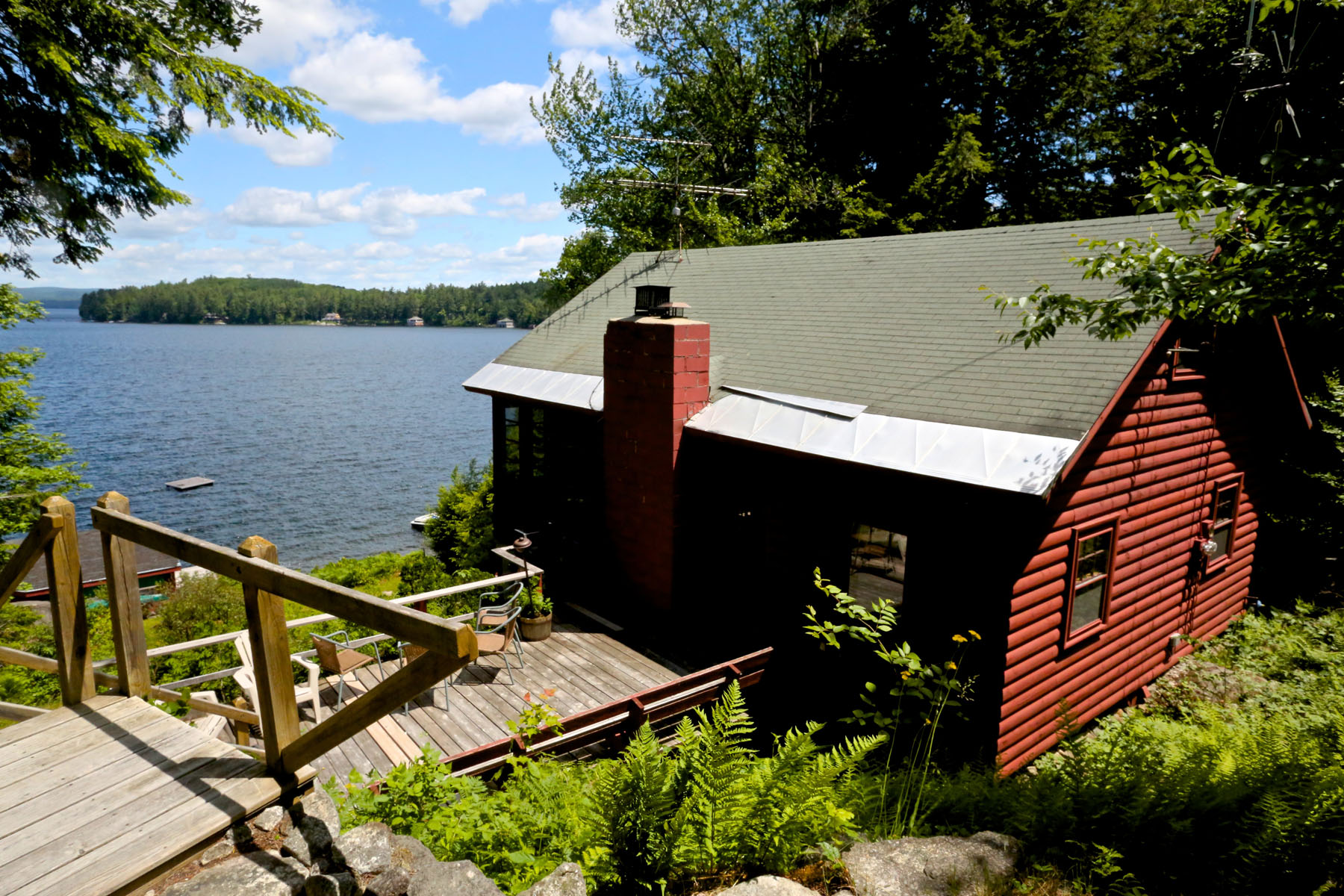 Single Family Home for Sale at Lake Sunapee Waterfront Home 328 Bay Point Rd Sunapee, New Hampshire 03782 United States