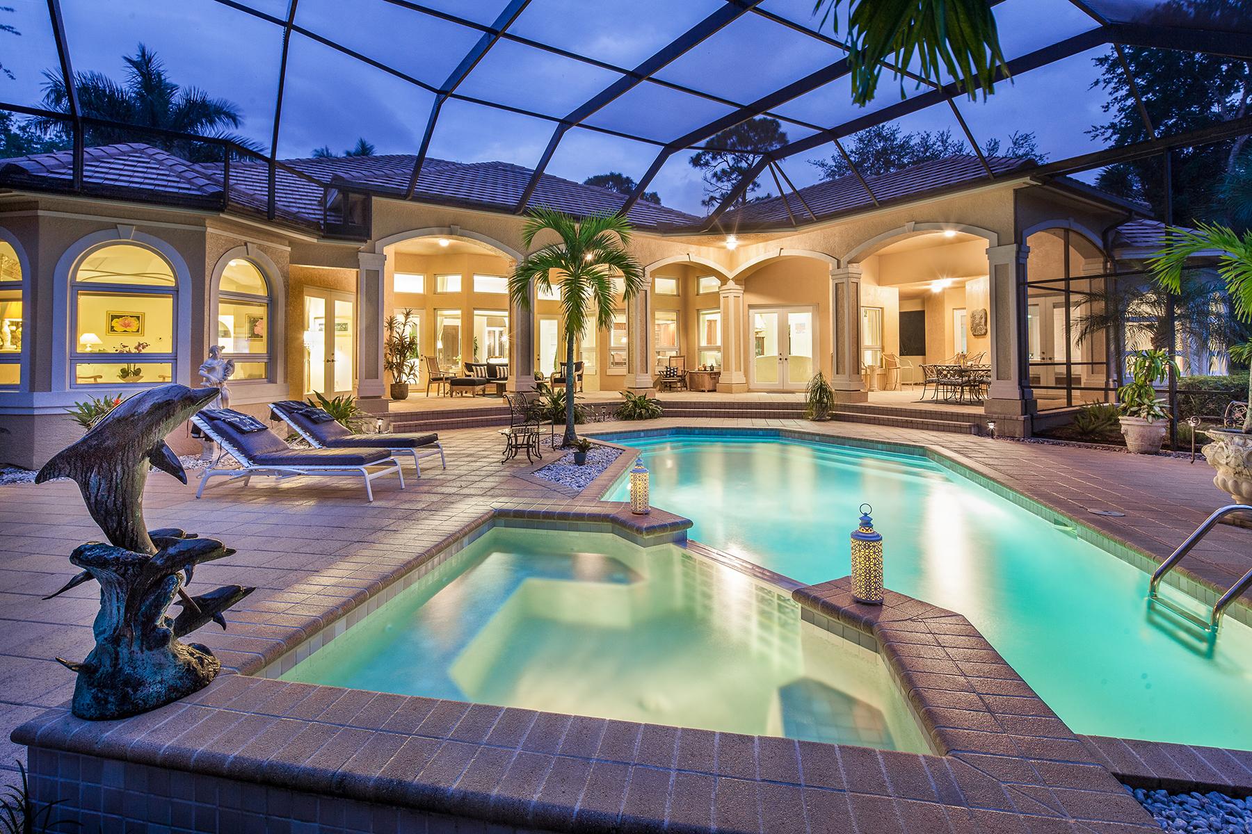 단독 가정 주택 용 매매 에 COLLIERS RESERVE 897 Barcarmil Way Naples, 플로리다, 34110 미국