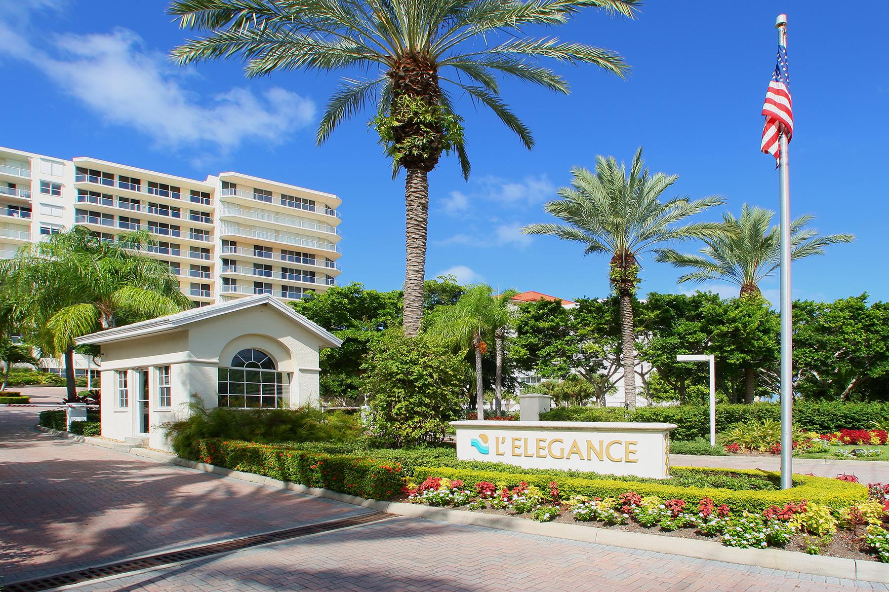 콘도미니엄 용 매매 에 LIDO BEACH 1800 Benjamin Franklin Dr B907 Sarasota, 플로리다, 34236 미국
