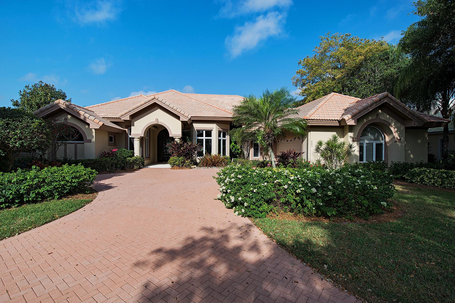 Частный односемейный дом для того Продажа на 405 Rosemeade Ln , Naples, FL 34105 405 Rosemeade Ln Naples, Флорида 34105 Соединенные Штаты