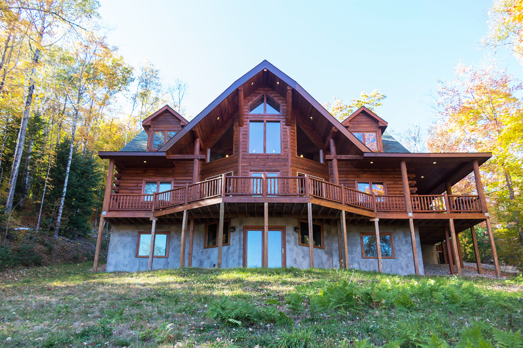 Moradia para Venda às Gore Mountain Log Home 35 Evergreen Way Johnsburg, Nova York, 12853 Estados Unidos