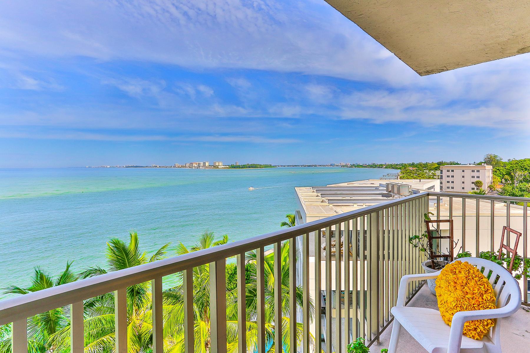共管式独立产权公寓 为 销售 在 SIESTA TOWERS 4822 Ocean Blvd 6F Sarasota, 佛罗里达州 34242 美国