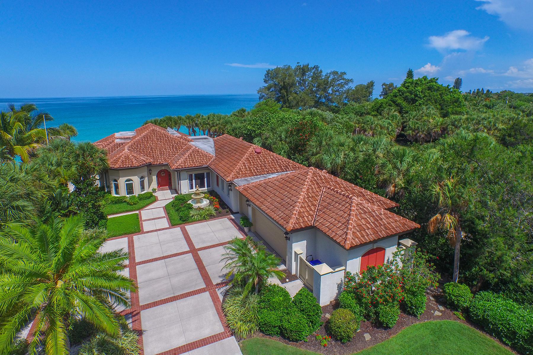 Casa Unifamiliar por un Venta en CASEY KEY GULF TO BAY 2509 Casey Key Rd Casey Key, Nokomis, Florida 34275 Estados Unidos