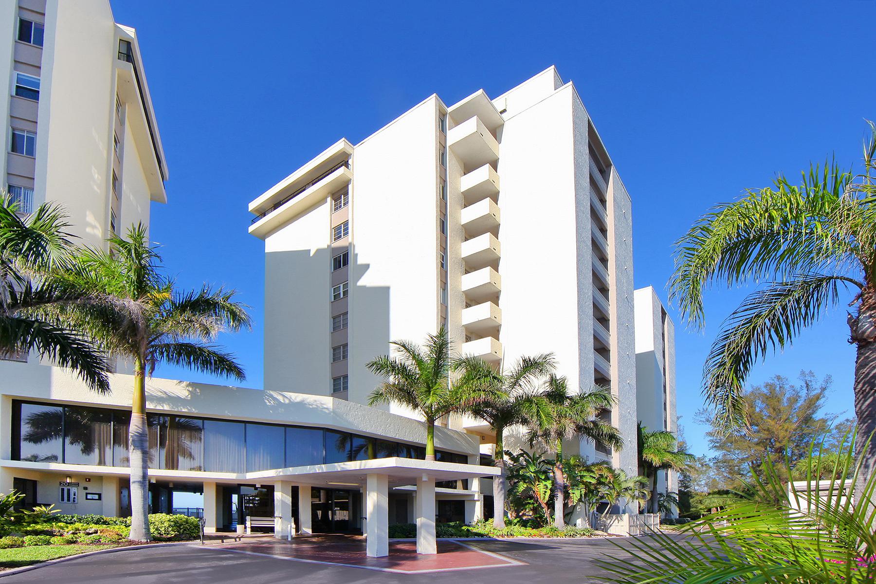 콘도미니엄 용 매매 에 WHISPERING SANDS 19 Whispering Sands Dr 1001 Sarasota, 플로리다, 34242 미국