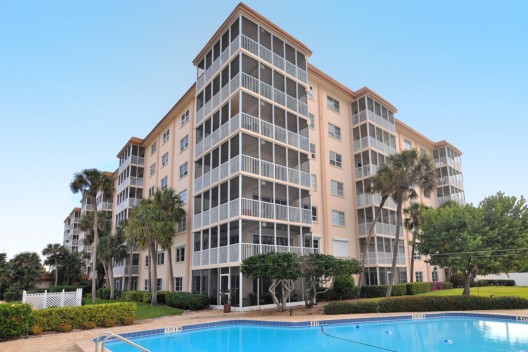 共管式独立产权公寓 为 销售 在 LIDO AMBASSADOR 800 Benjamin Franklin Dr 510 Sarasota, 佛罗里达州 34236 美国