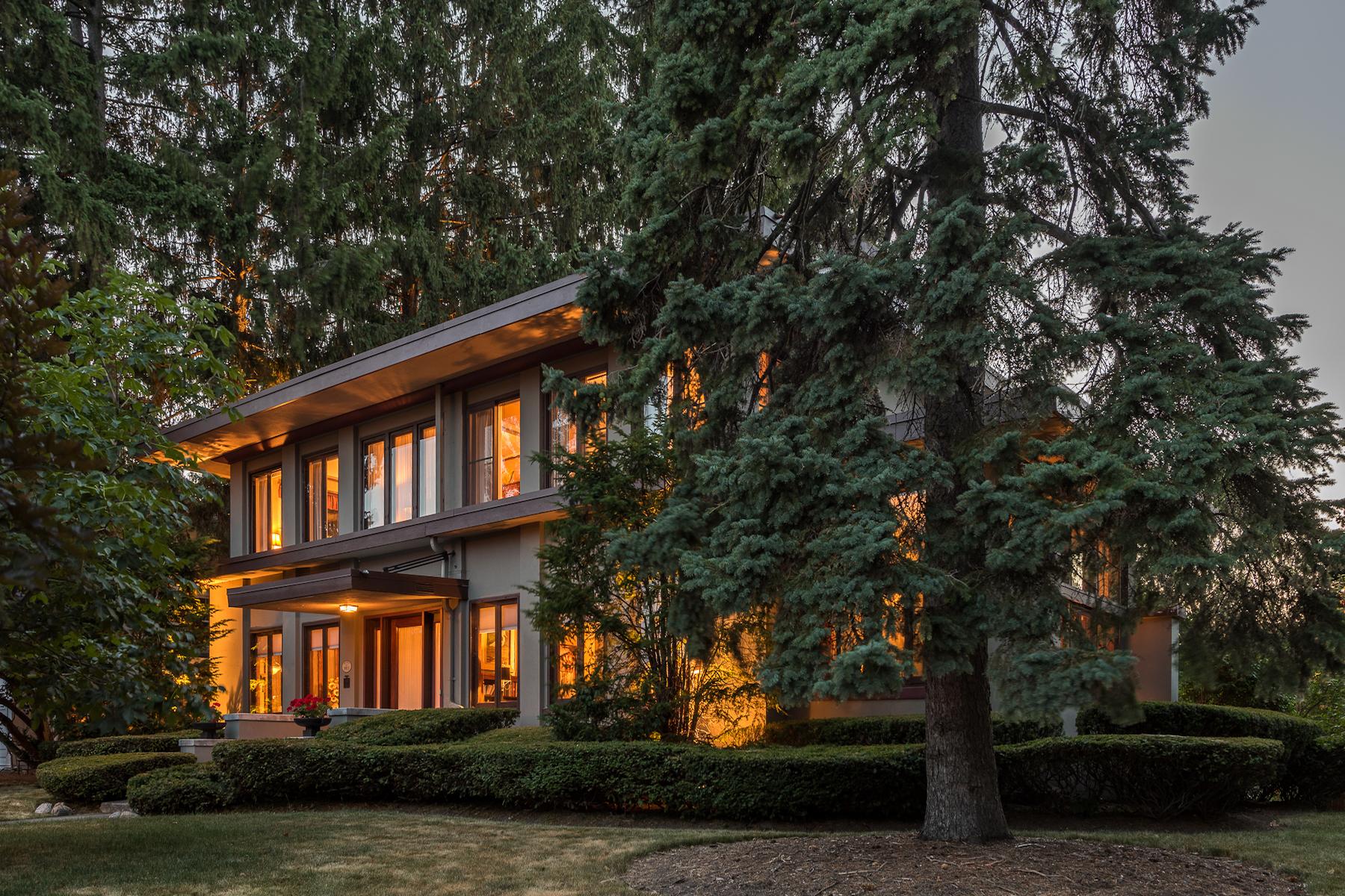 Single Family Home for Sale at Frank Lloyd Wright Inspired 380 Washington St Geneva, New York 14456 United States