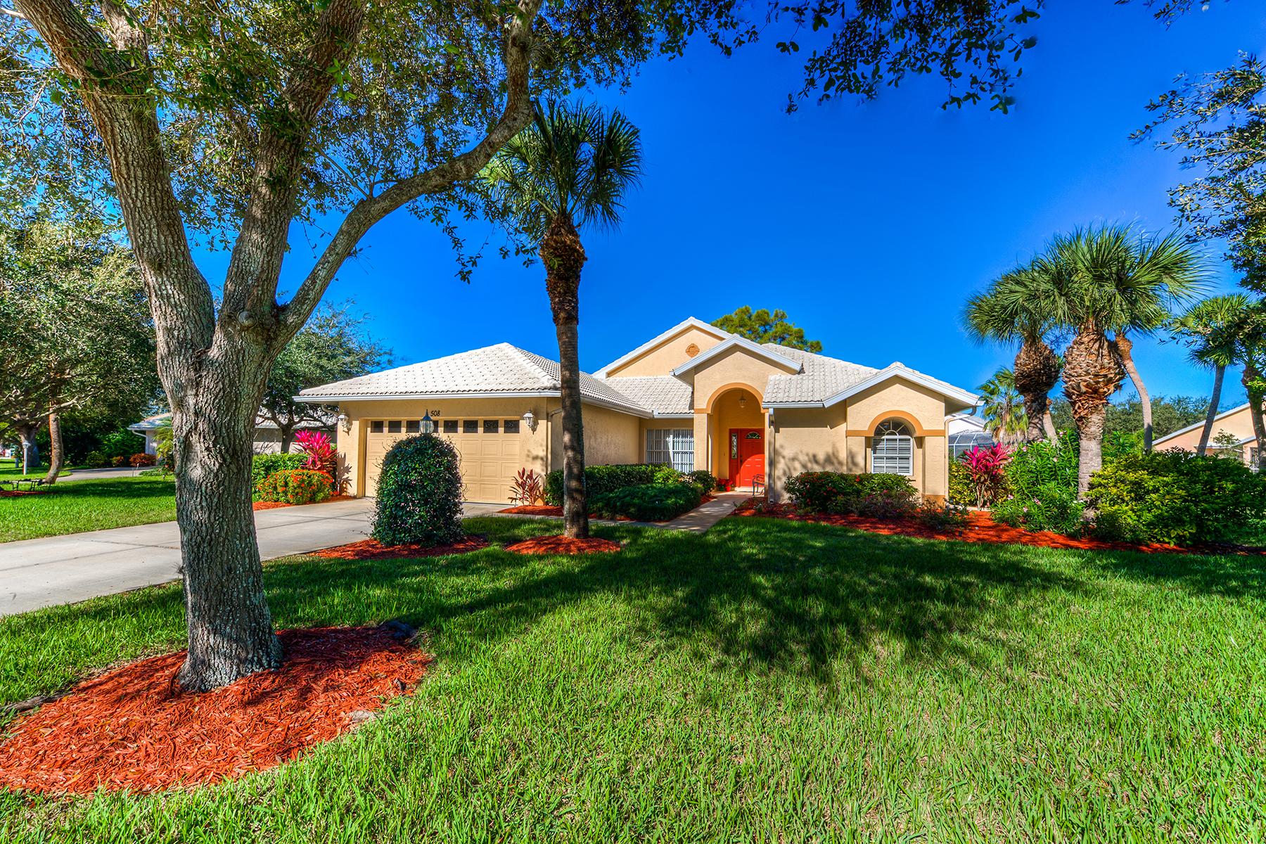Частный односемейный дом для того Продажа на NOKOMIS OAKS 508 Jenny Dr Nokomis, Флорида, 34275 Соединенные Штаты