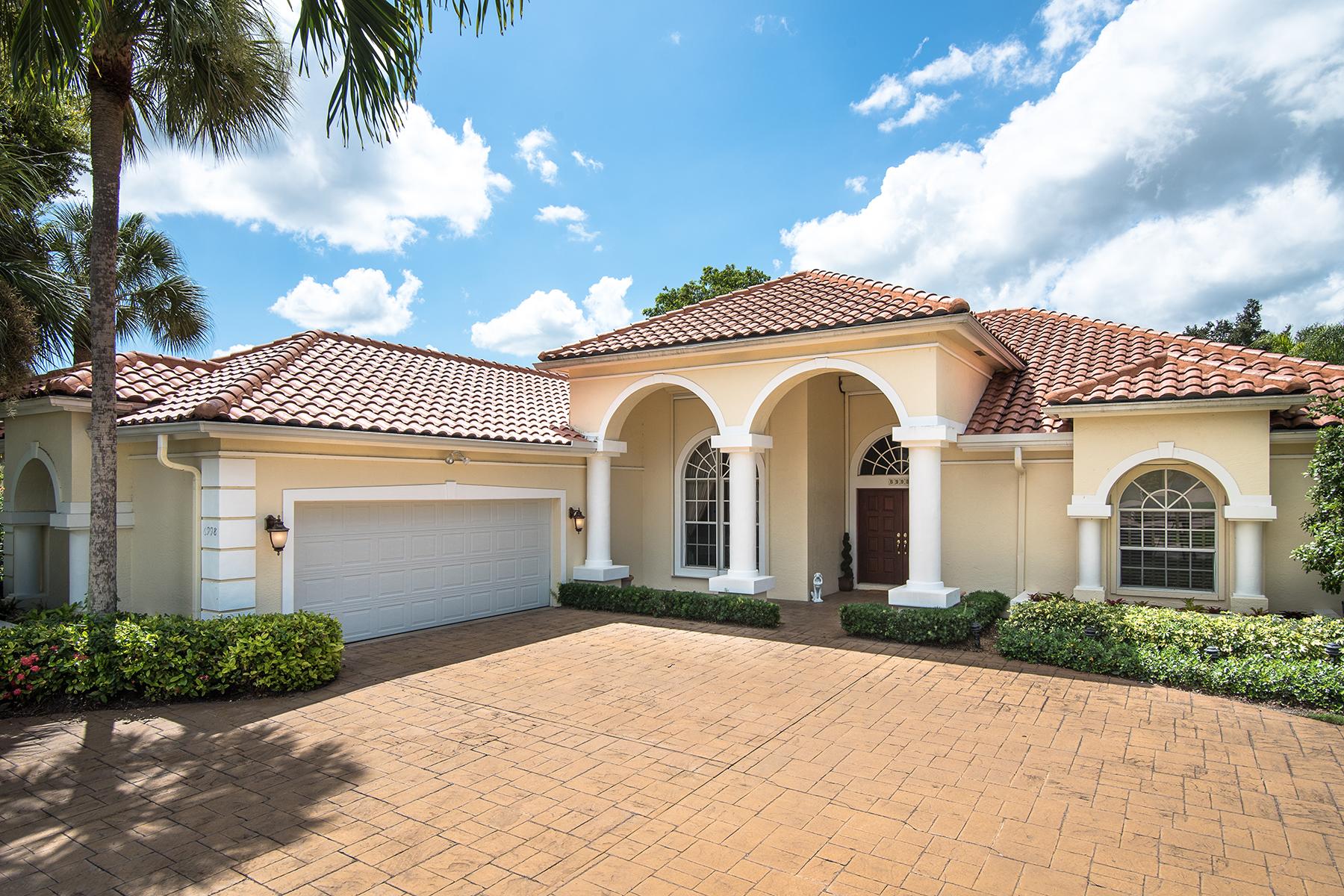 단독 가정 주택 용 매매 에 Barrington at Pelican Bay 6998 Greentree Dr Pelican Bay, Naples, 플로리다 34108 미국