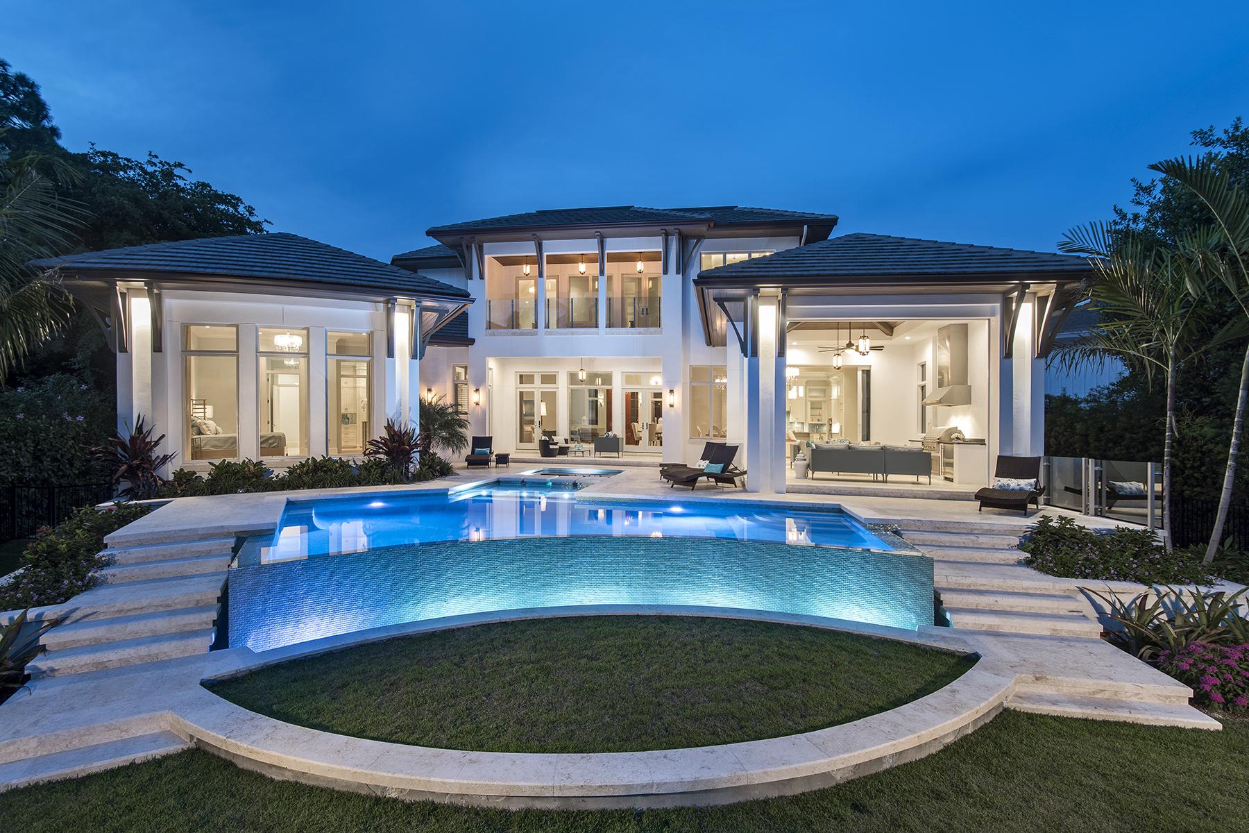 Einfamilienhaus für Verkauf beim PARK SHORE 344 Pirates Bight Naples, Florida, 34103 Vereinigte Staaten