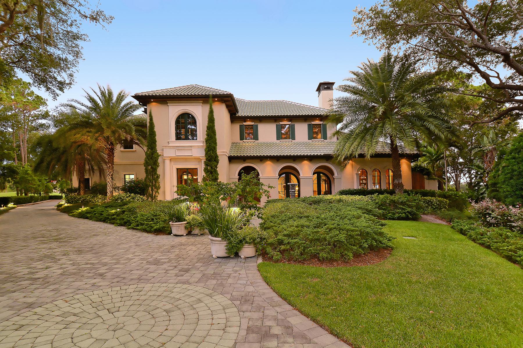 Casa Unifamiliar por un Venta en THE OAKS 931 Blue Heron Overlook, Osprey, Florida 34229 Estados Unidos