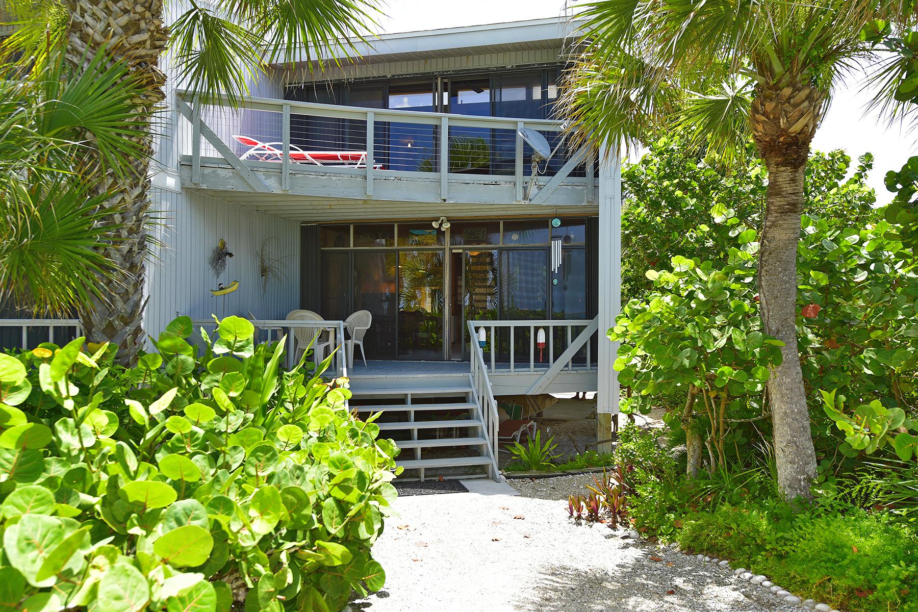 Casa Unifamiliar Adosada por un Venta en MANASOTA KEY 5030 N Beach Rd 4 Englewood, Florida 34223 Estados Unidos