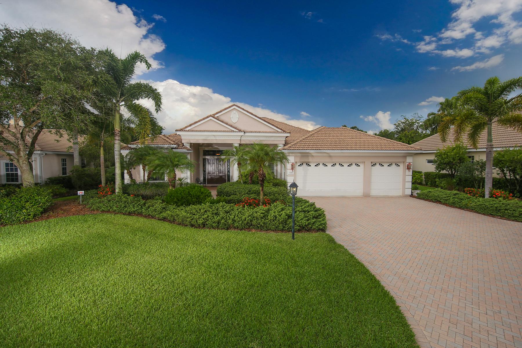 Maison unifamiliale pour l Vente à UNIVERSITY PARK COUNTRY CLUB 7310 Chatsworth Ct University Park, Florida 34201 États-Unis