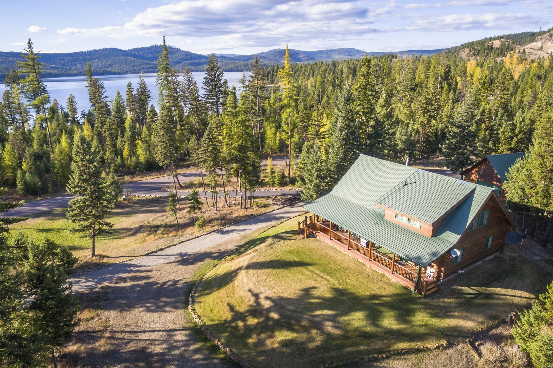 sales property at Log Home with Open Floor Plan