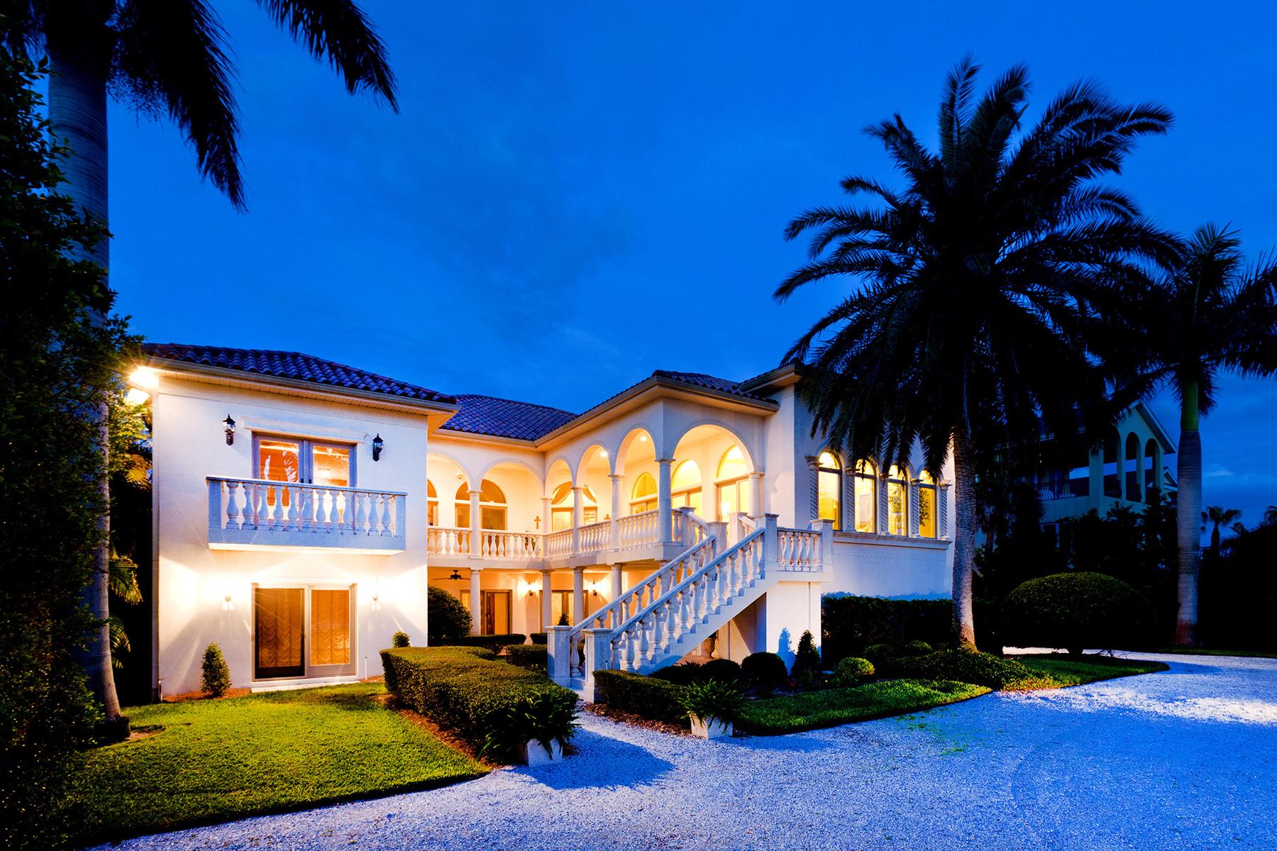 Casa Unifamiliar por un Venta en CASEY KEY 2910 Casey Key Rd Casey Key, Nokomis, Florida 34275 Estados Unidos