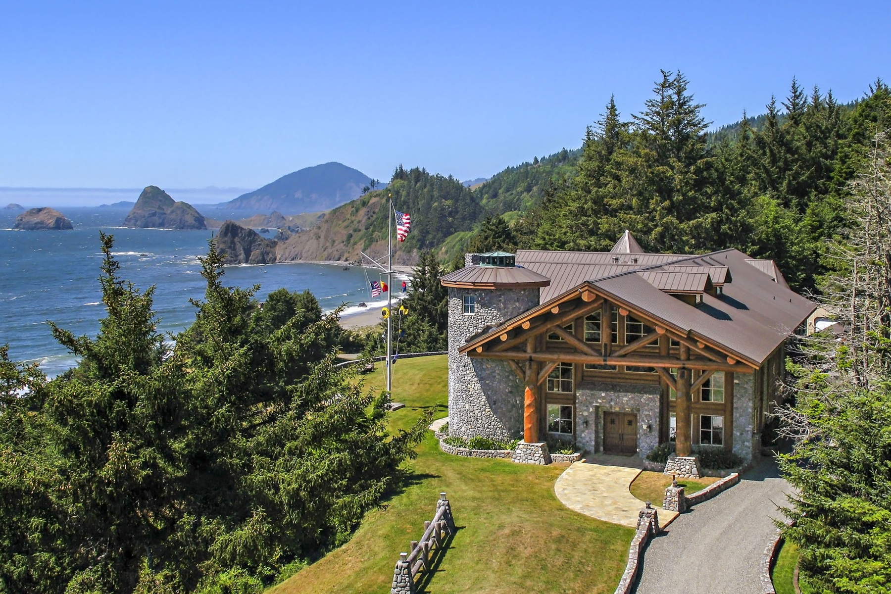 Property For Sale at Magnificent Log Home