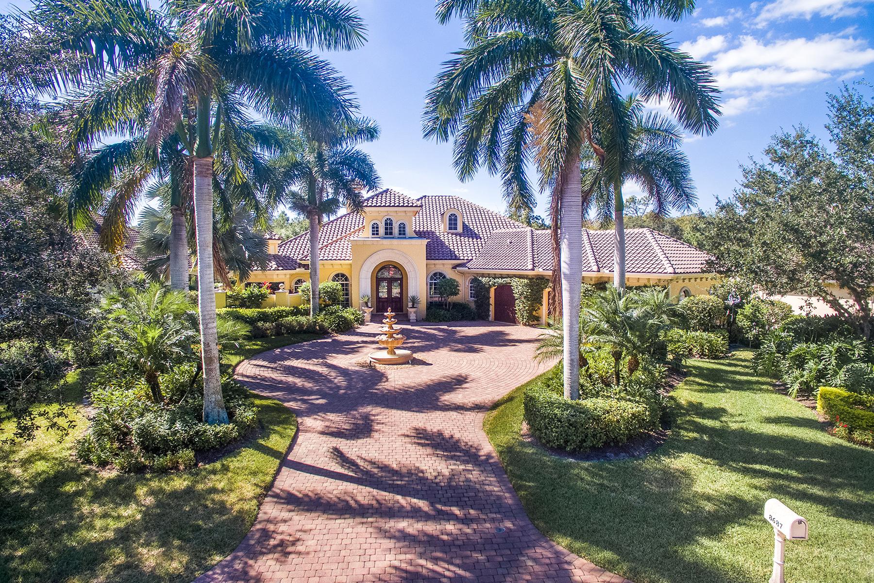 獨棟家庭住宅 為 出售 在 PELICAN MARSH - BAY LAUREL ESTATES 8687 Purslane Dr Naples, 佛羅里達州, 34109 美國