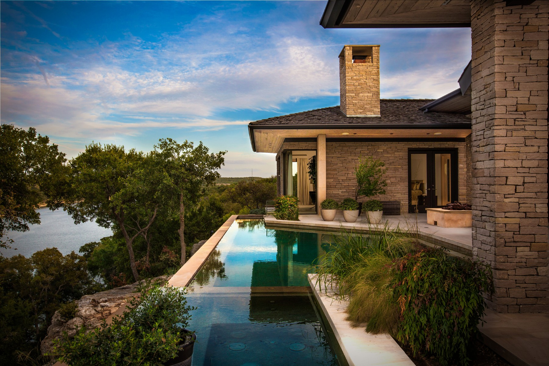 Single Family Home for Sale at ARCHITECTURAL MASTERPIECE 805 Rivercliff Rd Spicewood, Texas 78669 United States