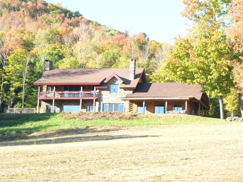 Single Family Home for Sale at Spectacular Log Home on 245 Acres 231 E Christmas Tree Farm Rd Chester, Vermont 05143 United States