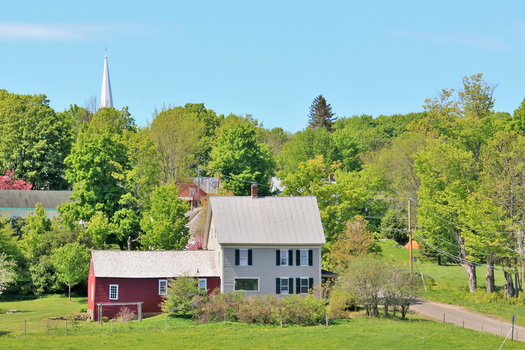 단독 가정 주택 용 매매 에 Peacham Village Pastures 102 Old Cemetery Rd Peacham, 베르몬트, 05862 미국