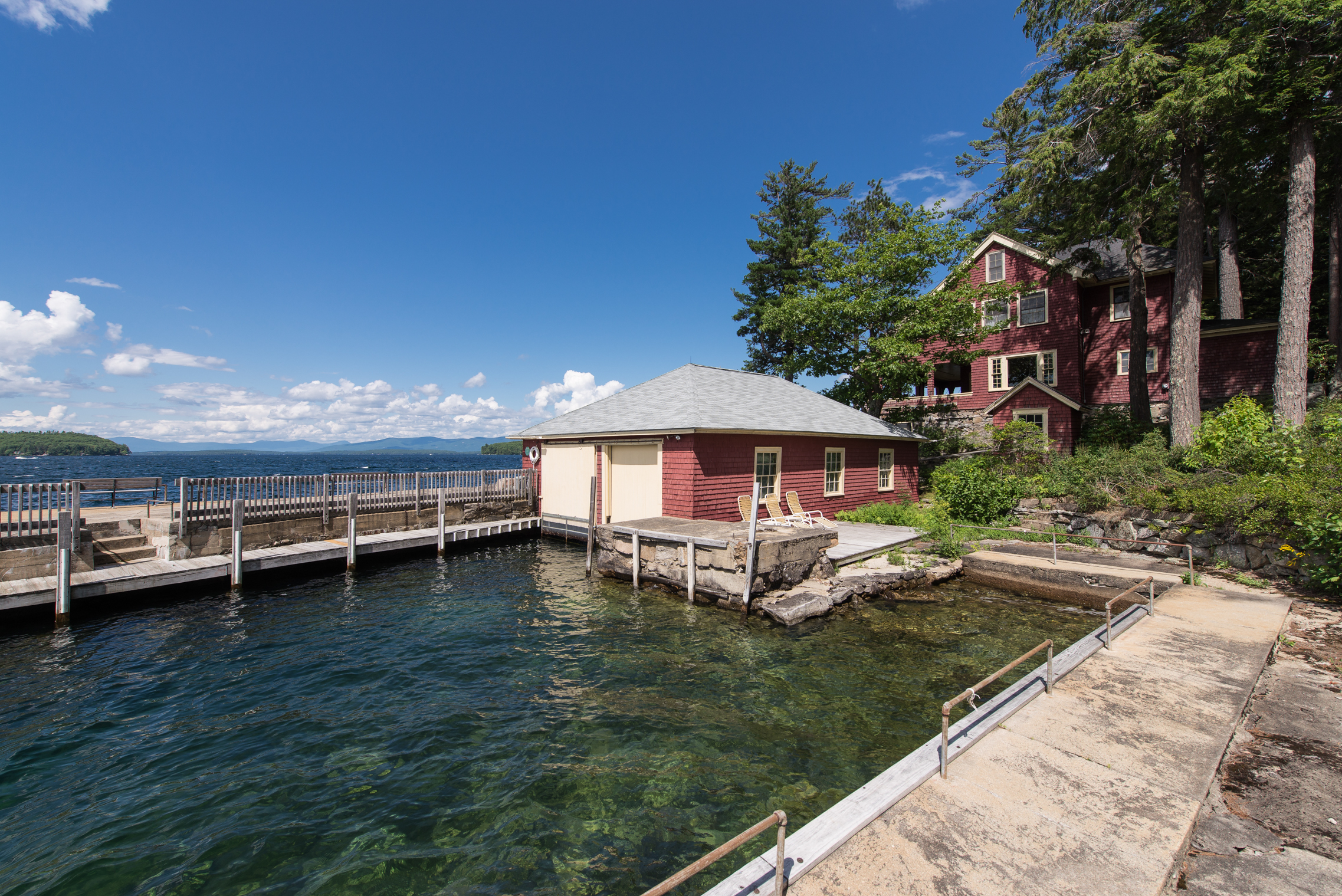 Single Family Home for Sale at Classic 1912 Winnipesaukee Compound 150 Smith Point Rd Alton, New Hampshire, 03810 United States