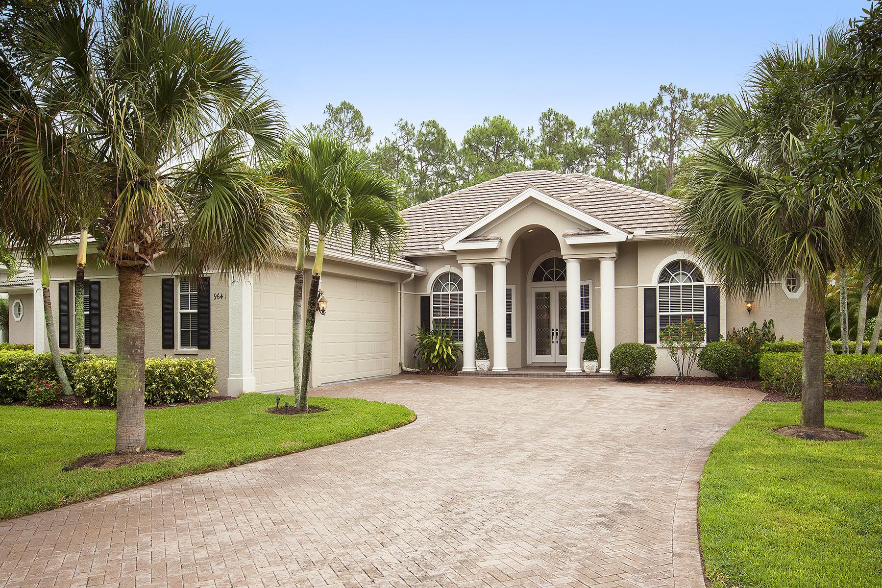 Частный односемейный дом для того Продажа на Wilshire Lakes 9641 Wilshire Lakes Blvd Naples, Флорида 34109 Соединенные Штаты