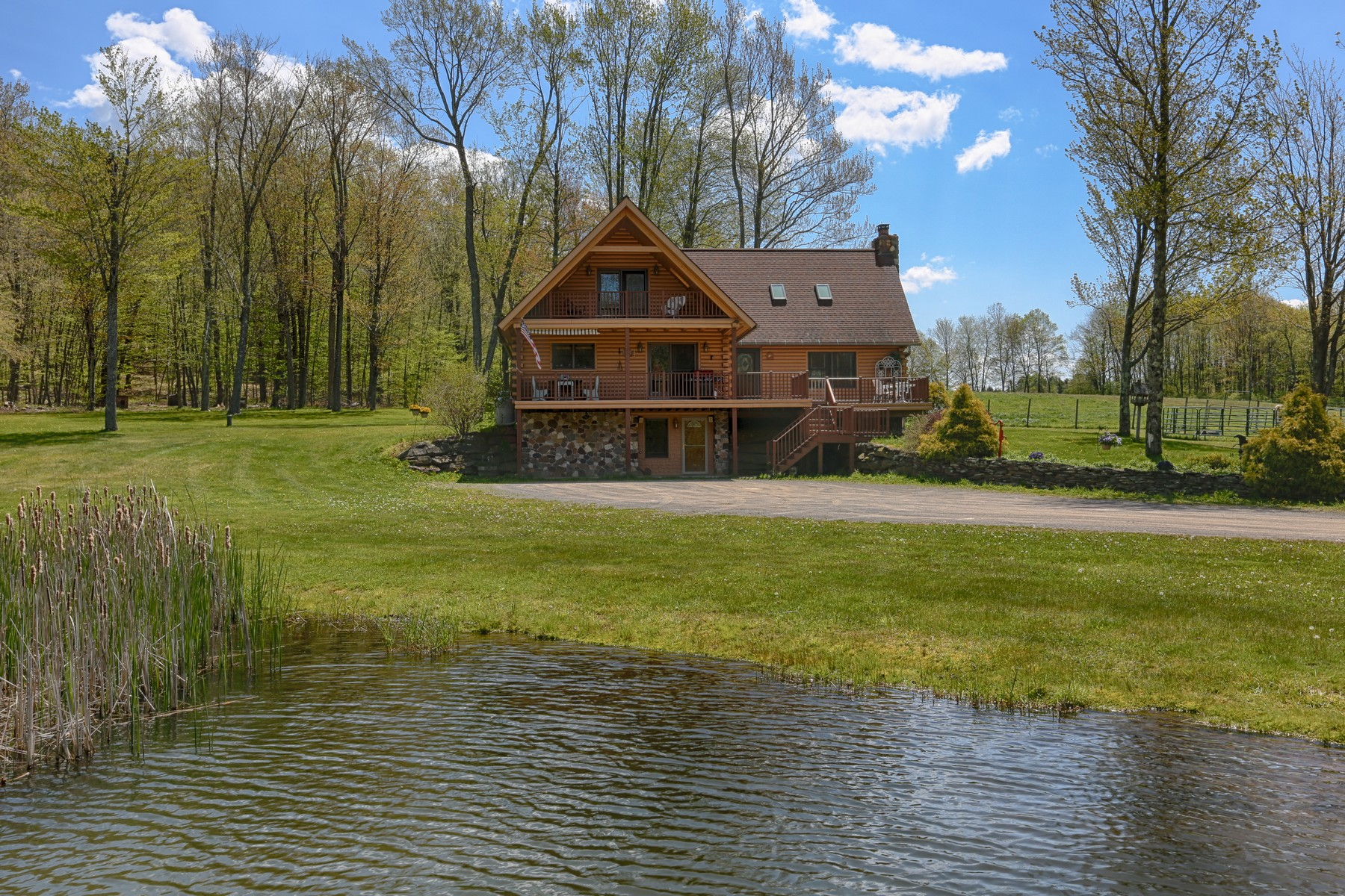 Single Family Home for Sale at Secluded Gentleman's Farm 1206 Flax Island Rd Otsego, New York 13825 United States