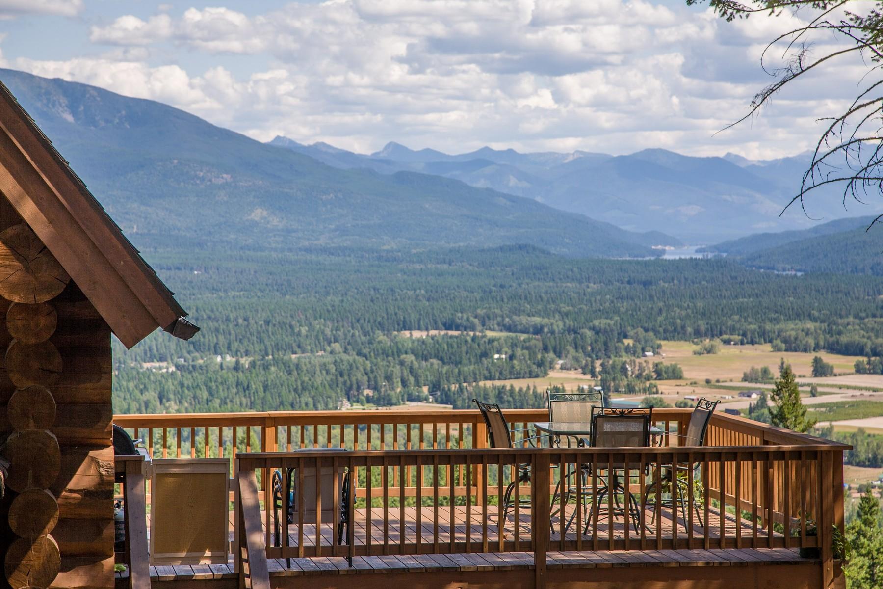 Villa per Vendita alle ore Top of The World Log Getaway 1138 Swan Hill Dr Bigfork, Montana, 59911 Stati Uniti