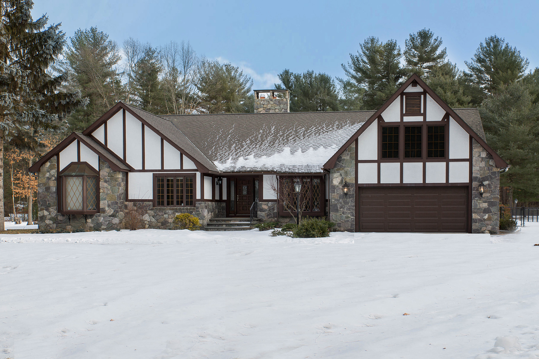 Single Family Home for Sale at Private Ranch Tudor Home on 13 Acres 2689 Route 9 Malta, New York 12020 United States