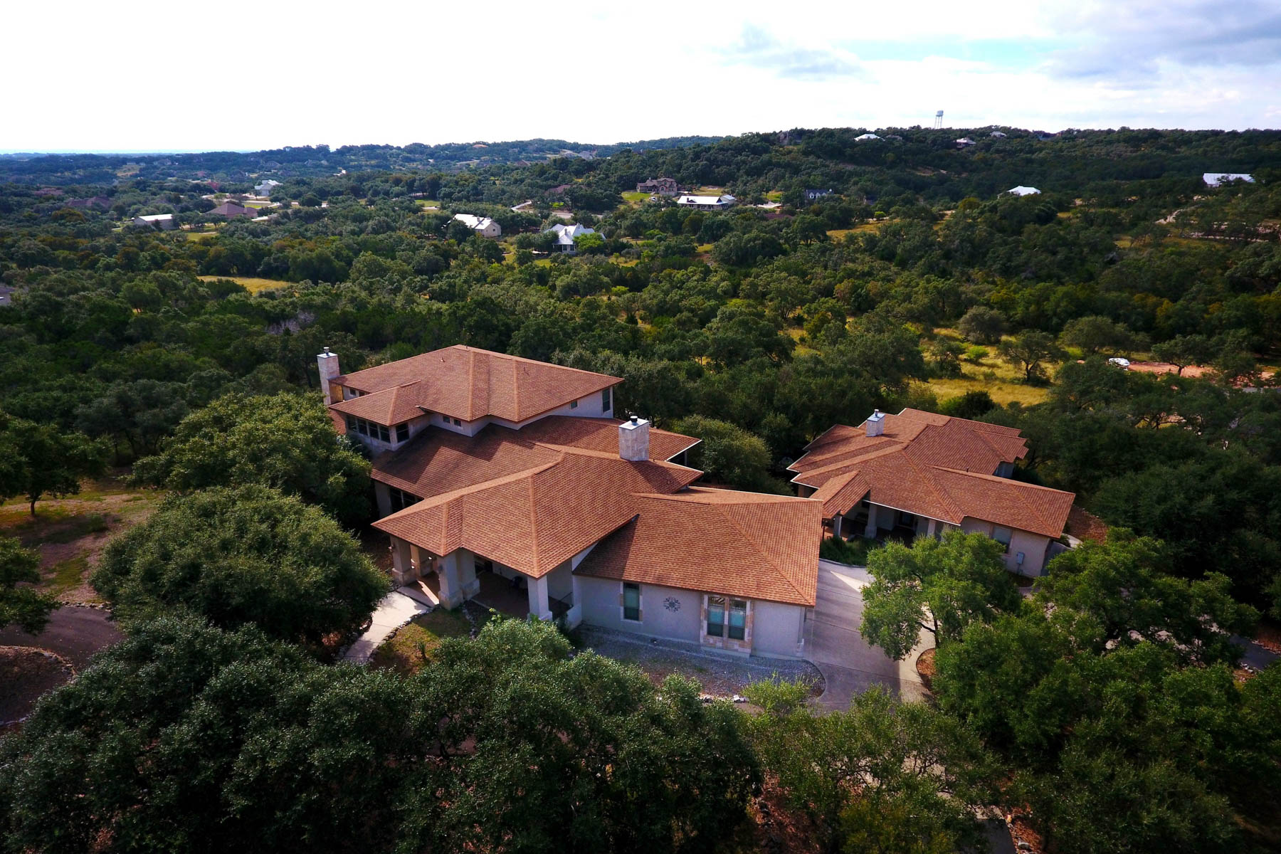 Single Family Home for Sale at Two Separate Custom Homes with Stunning Views 319 Westin Hills New Braunfels, Texas 78132 United States