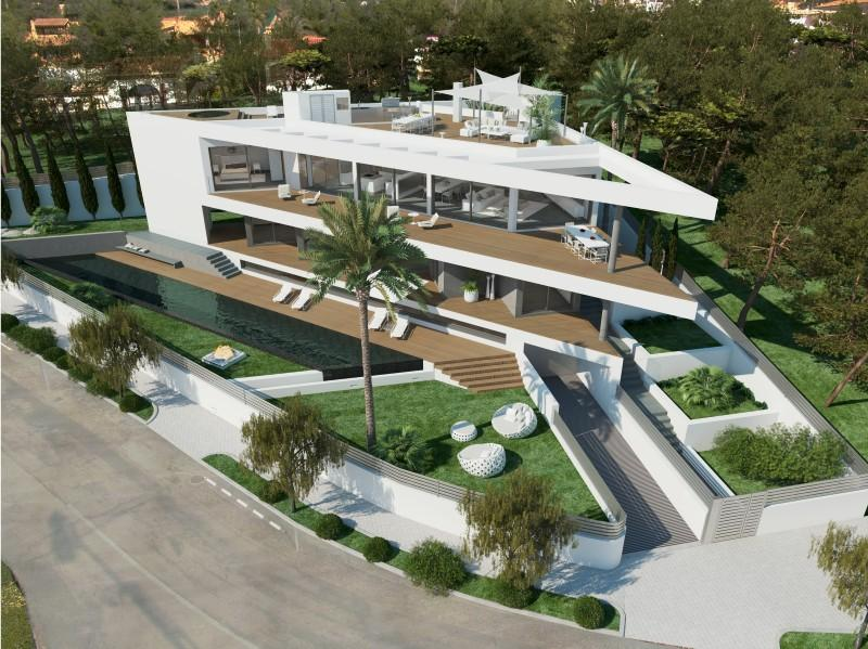 Single Family Home for Sale at Project with sea views in Nova Santa Ponsa Santa Ponsa, Mallorca 07181 Spain