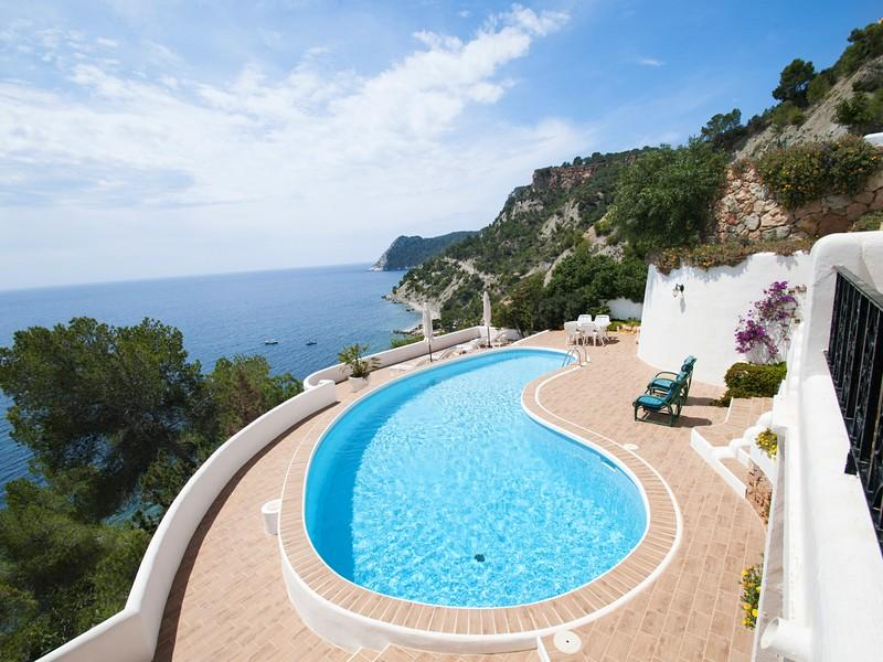 Property Of Villa In Es Cubells With Direct Access To The Sea