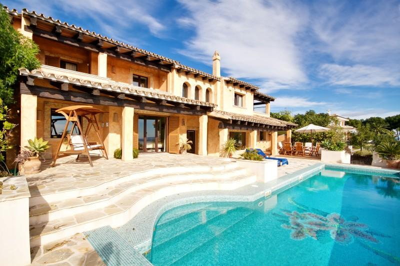 Single Family Home for Sale at Nice Villa With Views To Sea And Golf Of Bendinat Calvia, Mallorca 07181 Spain