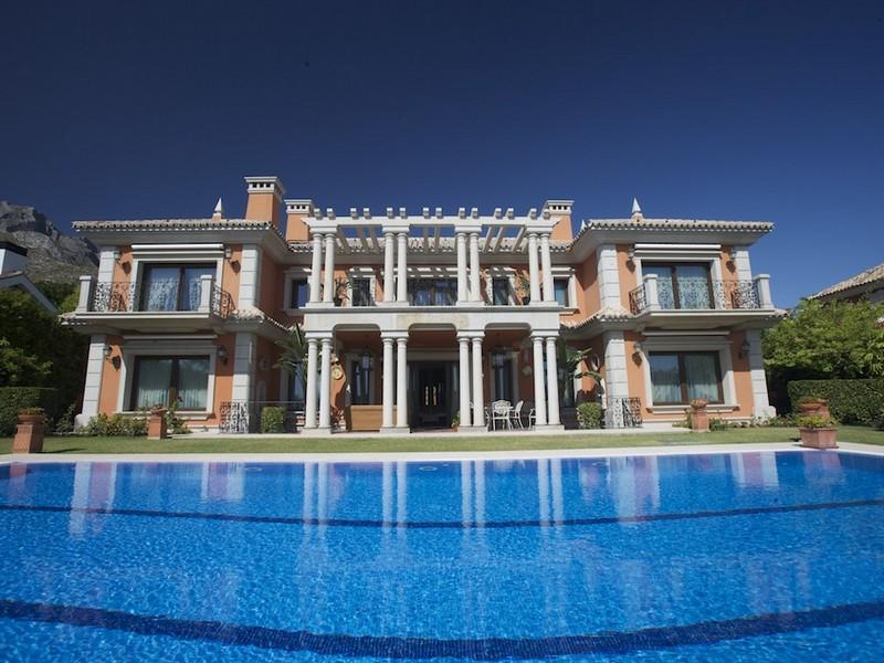 Single Family Home for Sale at Impressive palatial style villa In Sierra Blanca Marbella, Costa Del Sol 29600 Spain