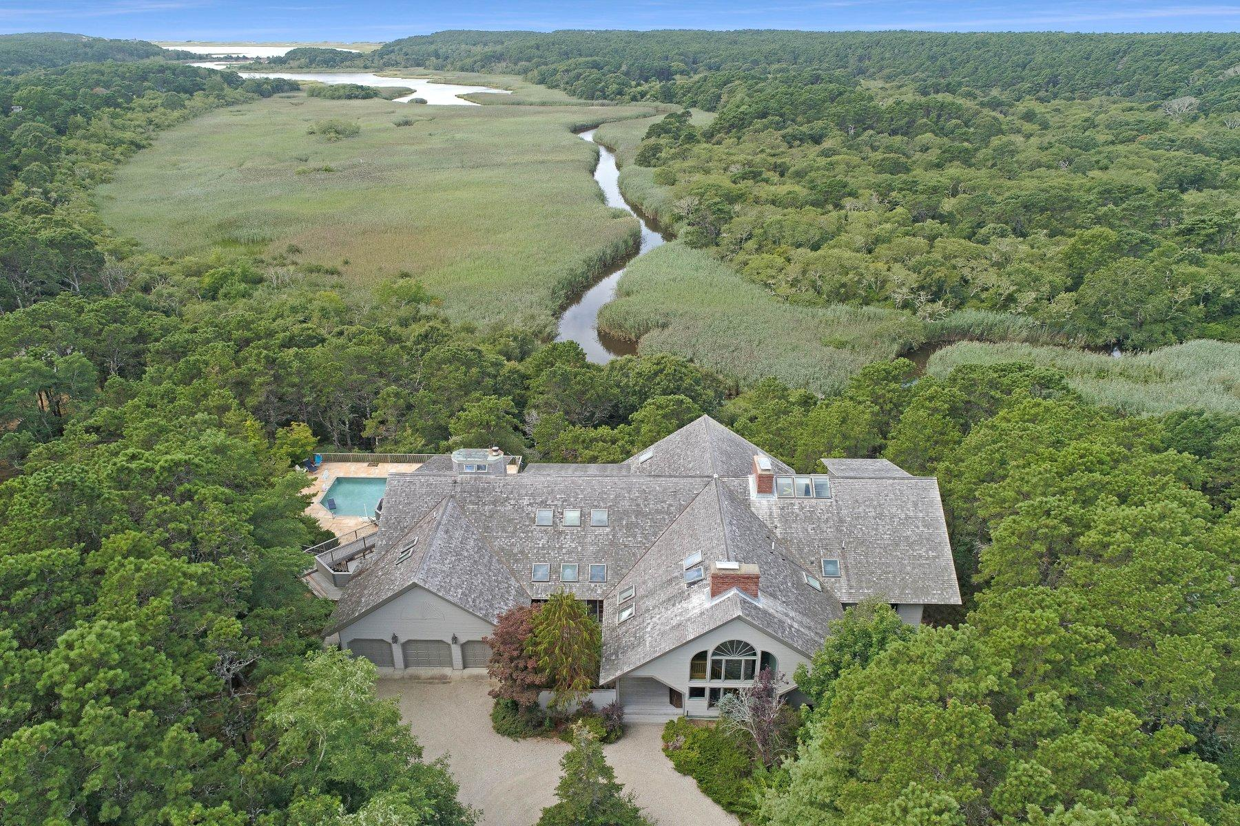Single Family Homes 용 매매 에 20 Salt Meadow Lane, Wellfleet, MA Wellfleet, 매사추세츠 02667 미국