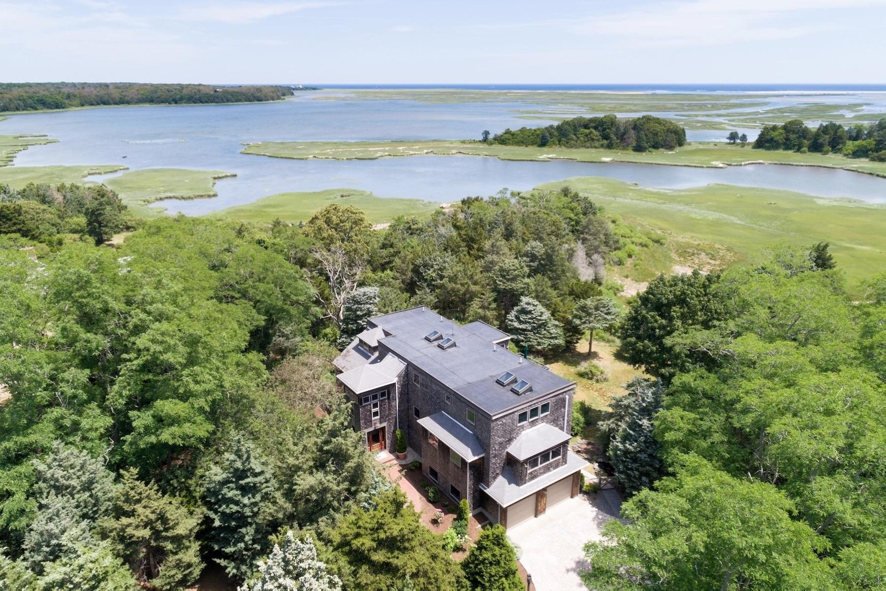 Single Family Home for Sale at Ocean & Marsh Views 4 Rabbit Run Eastham, Massachusetts 02642 United States