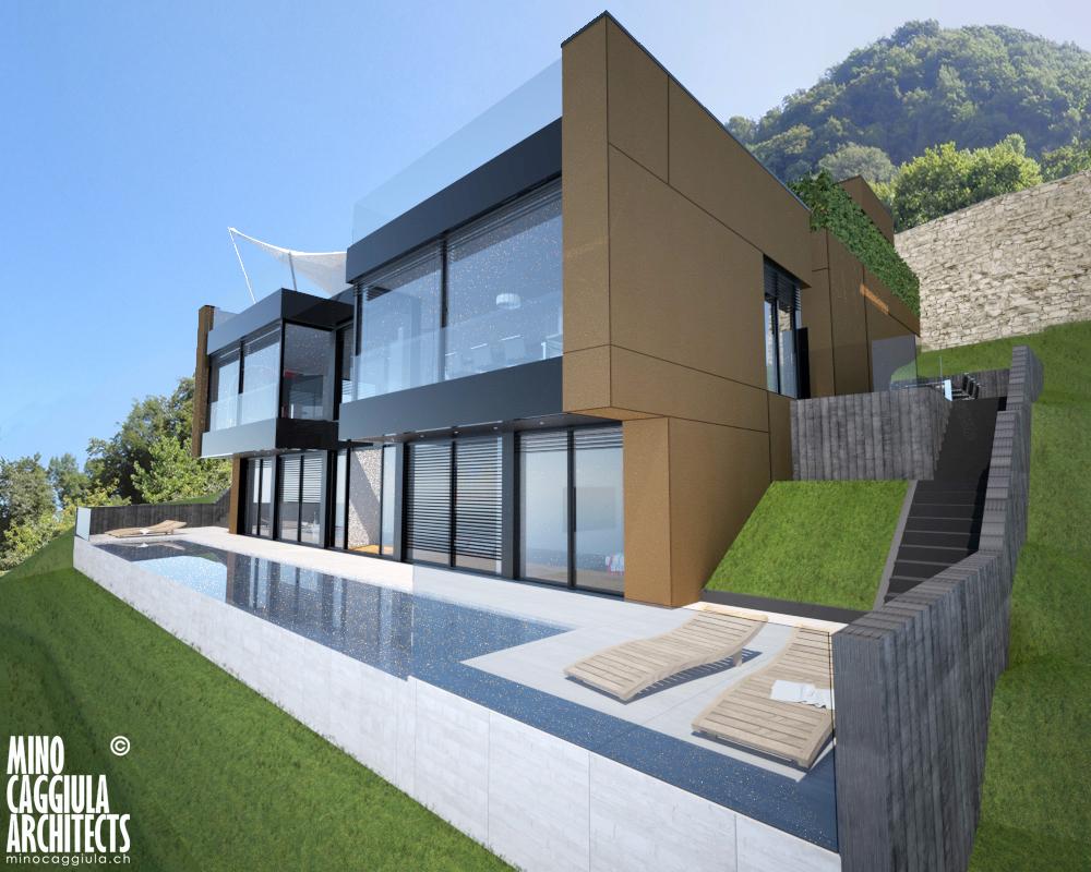 Single Family Home for Sale at Importante villa moderna con vista lago Aldesago Aldesago, Ticino 6974 Switzerland