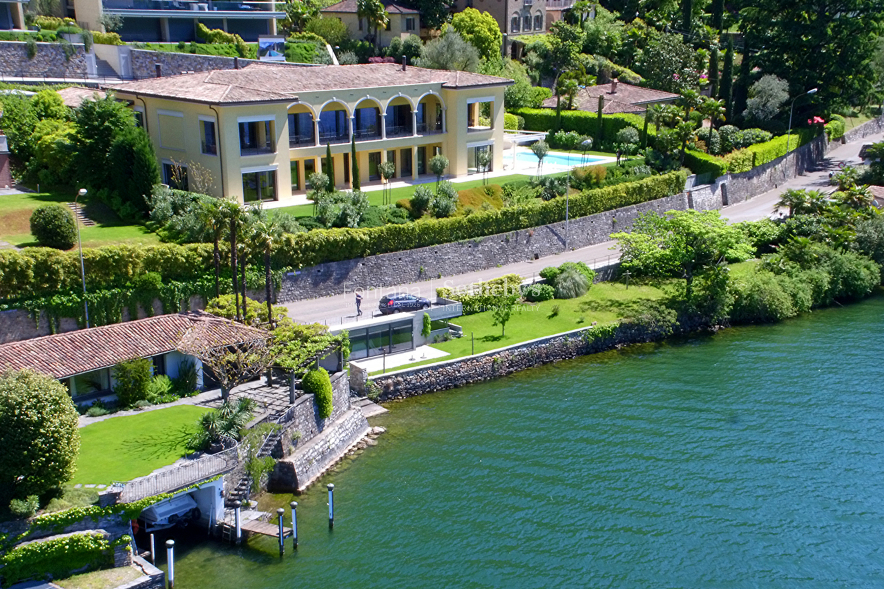 Single Family Home for Sale at Spectacular lakefront property Morcote Morcote, Ticino, 6922 Switzerland