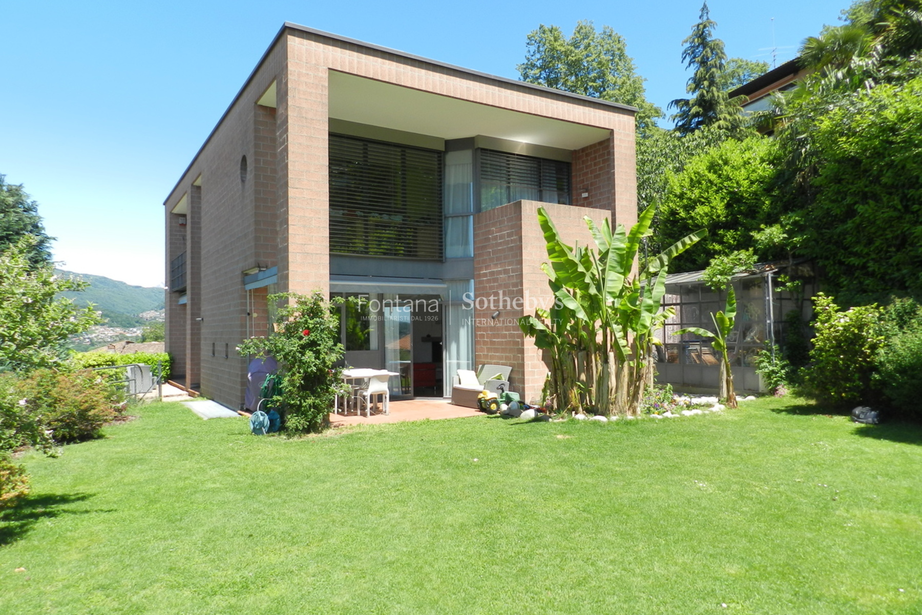 Single Family Home for Sale at Modern house with panoramic view Davesco-Soragno Other Switzerland, Other Areas In Switzerland, 6964 Switzerland
