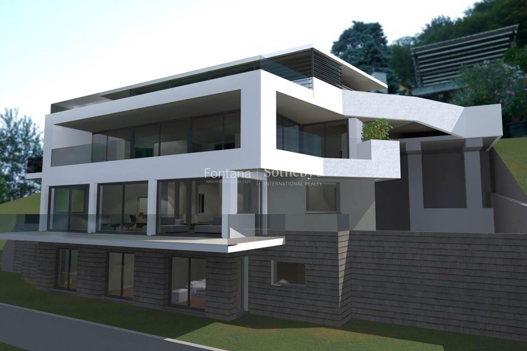 Single Family Home for Sale at Modern luxury villa set in an exclusive location Montagnola Montagnola, Ticino, 6926 Switzerland