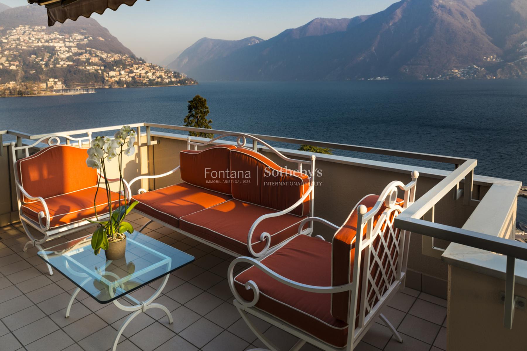 Apartman Dairesi için Satış at Lakefront penthouse Lugano Lugano, Ticino, 6900 Isviçre