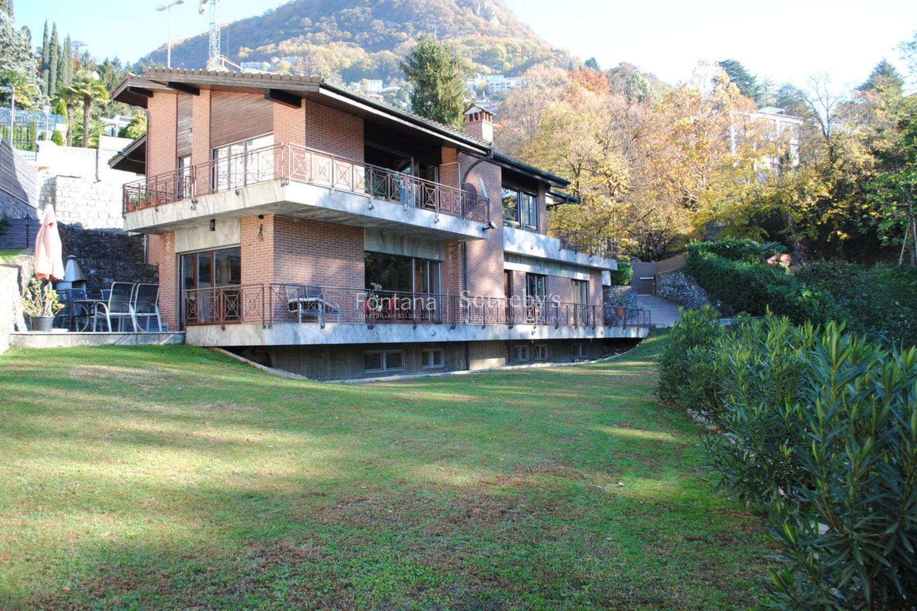 Single Family Home for Sale at Villa with pool in tranquil area Ruvigliana Lugano, Ticino, 6900 Switzerland