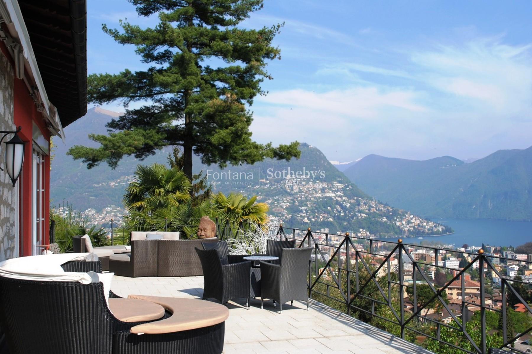Single Family Home for Sale at Beautiful mediterranean villa with panoramic view Breganzona Breganzona, Ticino, 6932 Switzerland