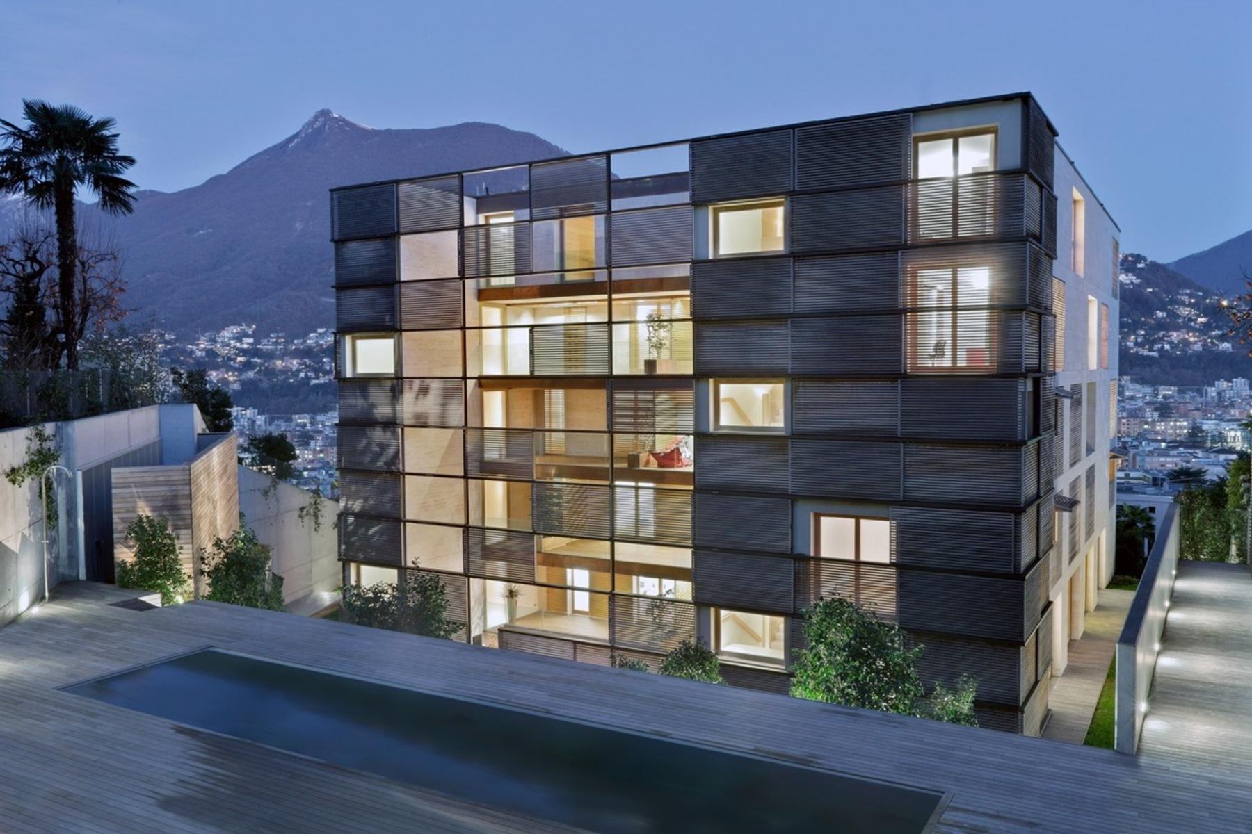 아파트 용 매매 에 Apartment in the design-residence Lomocubes Massagno, Massagno, Ticino, 6908 스위스