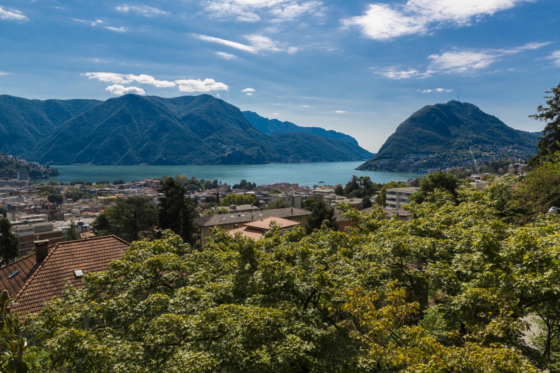 Частный односемейный дом для того Продажа на Spacious villa in residential area Lugano-Massagno, Massagno, Ticino, 6900 Швейцария
