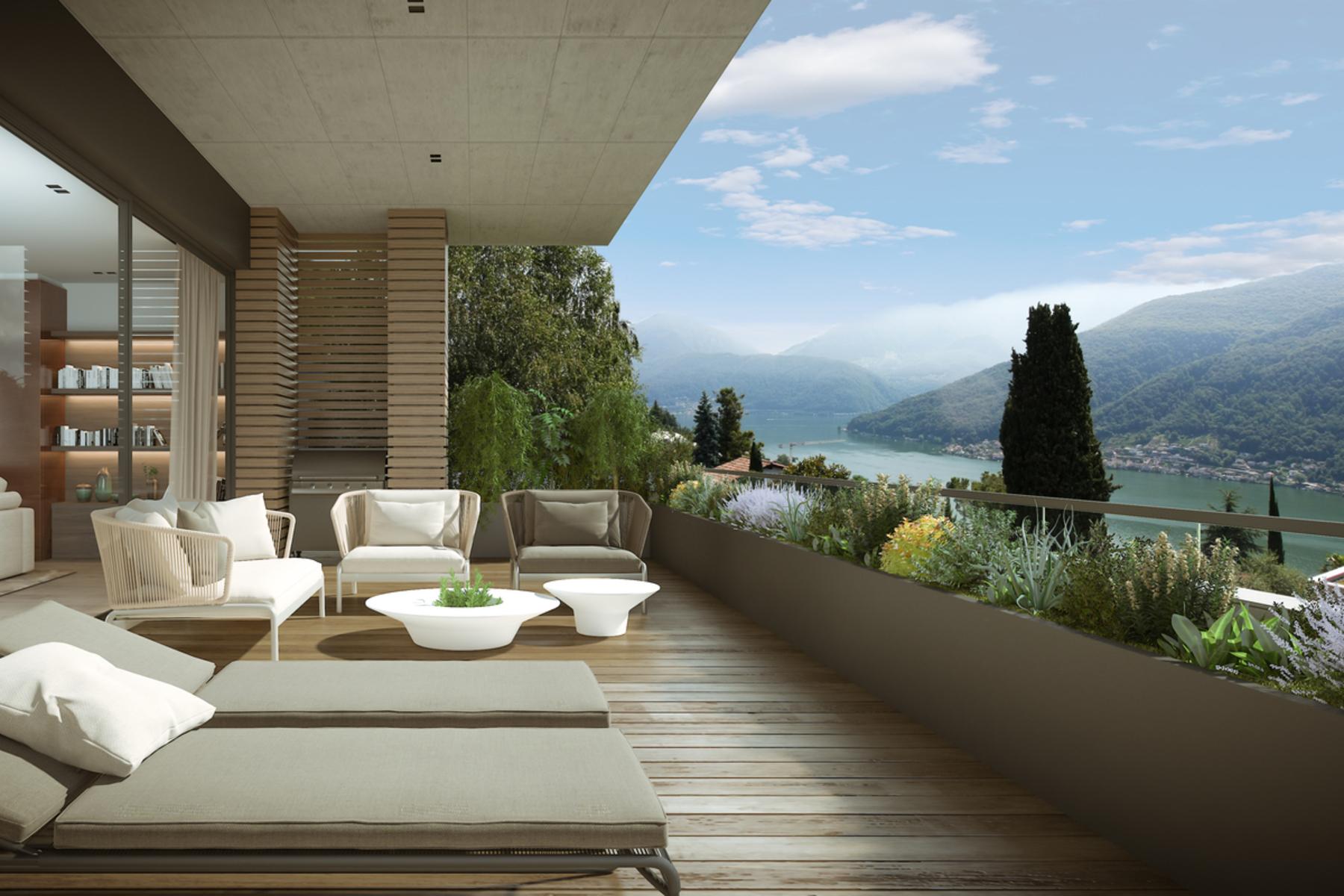 Casa para uma família para Venda às New villa in the Morcote Castle Estate Vico Morcote, Vico Morcote, Ticino, 6921 Suíça