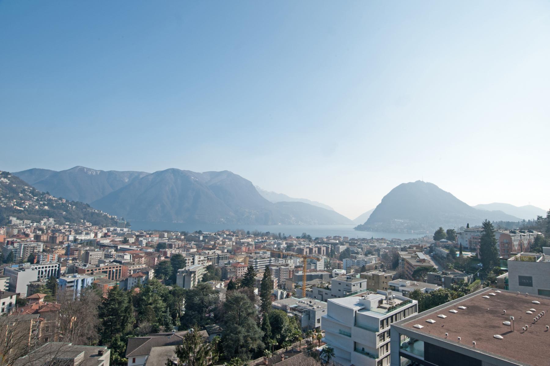 Apartamento para Venda às Elegant penthouse with a beautiful lake view Lugano, Lugano, Ticino, 6900 Suíça