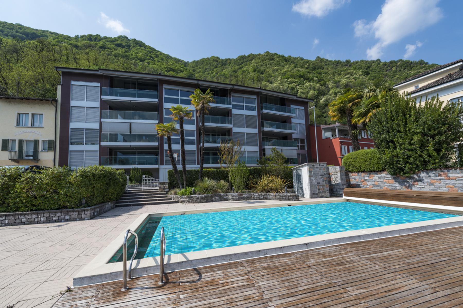 公寓 为 销售 在 Modern lake front penthouse with boat pier Melide Melide, 提契诺 6815 瑞士