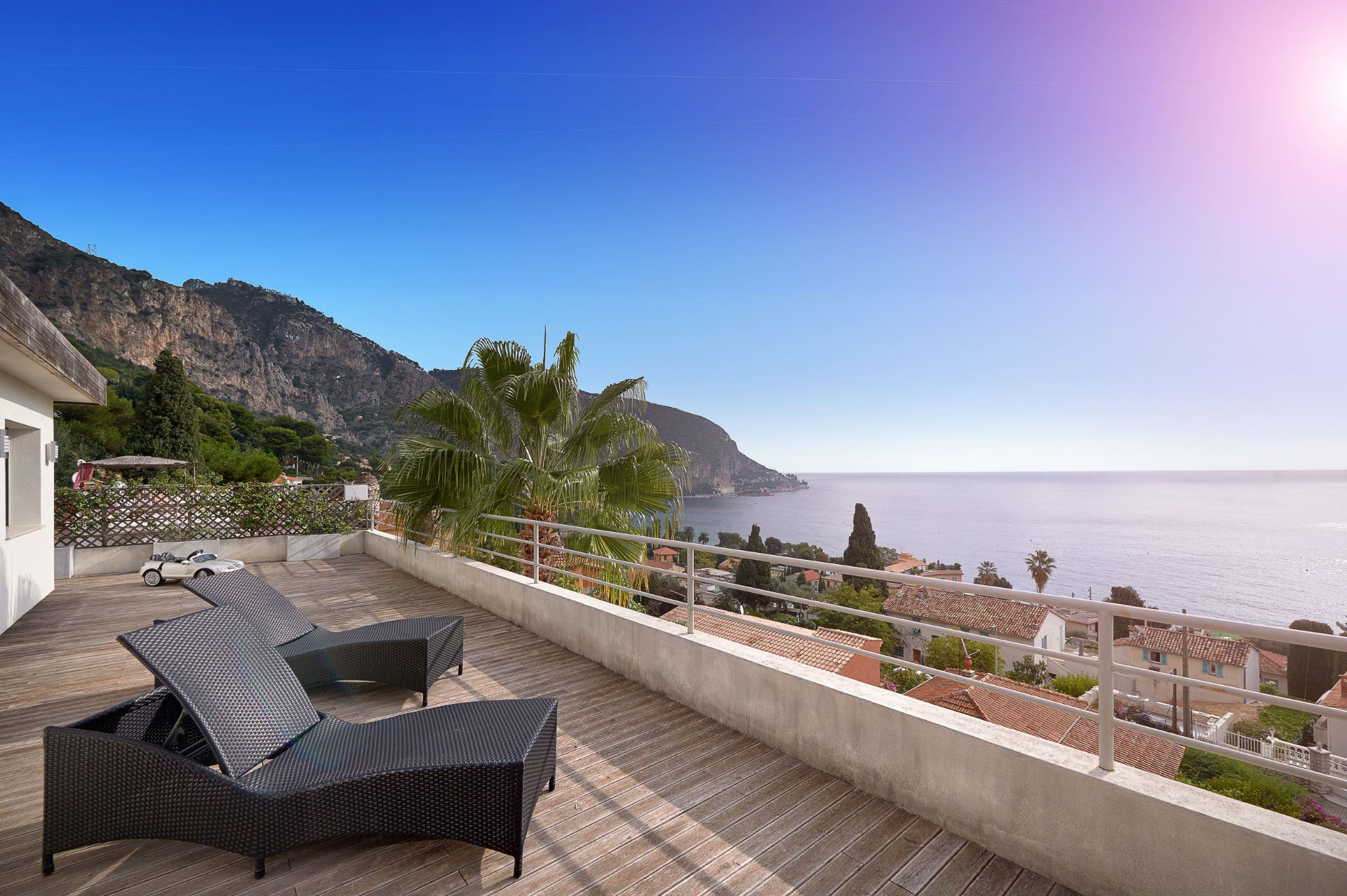 rentals property at Stunning modern luxury villa with panoramic sea views