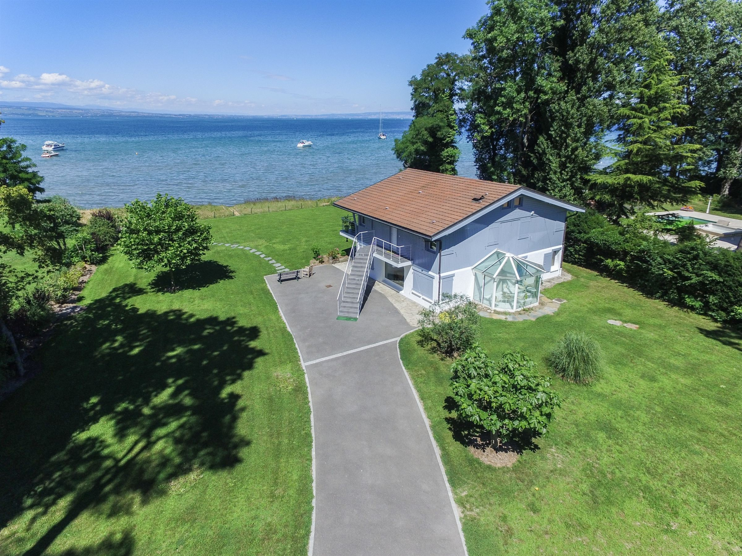 Single Family Home for Sale at waterfront Villa BETWEEN THONON AND GENEVA Sciez, Rhone-Alpes, 74140 France